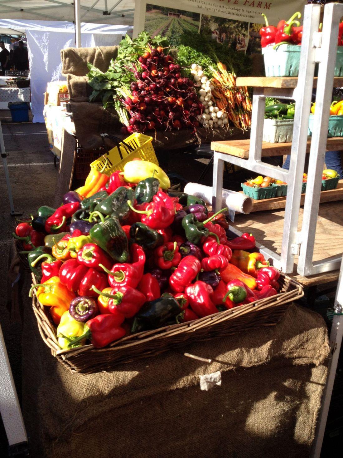 Fresh produce on Salt Spring Island, British Columbia