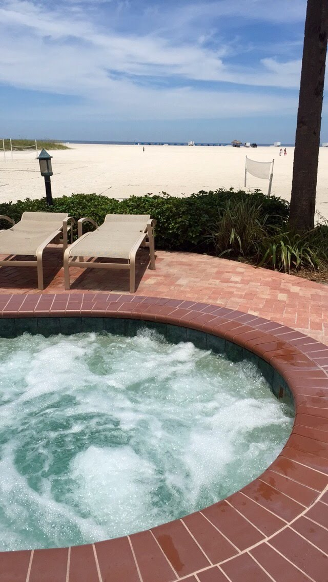 Jacuzzi at the Sheraton Sand Key Resort, Clearwater