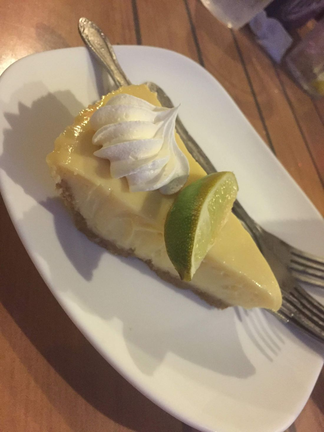 Key lime pie at Crabby Bill's