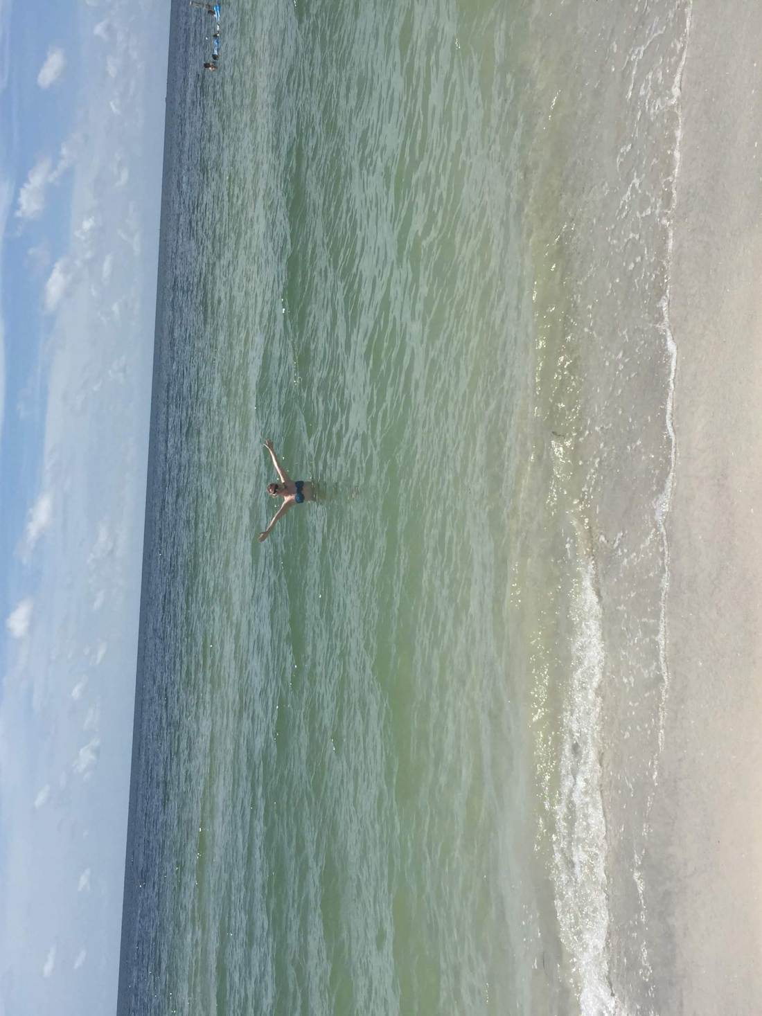 In the ocean of the Gulf of Mexico