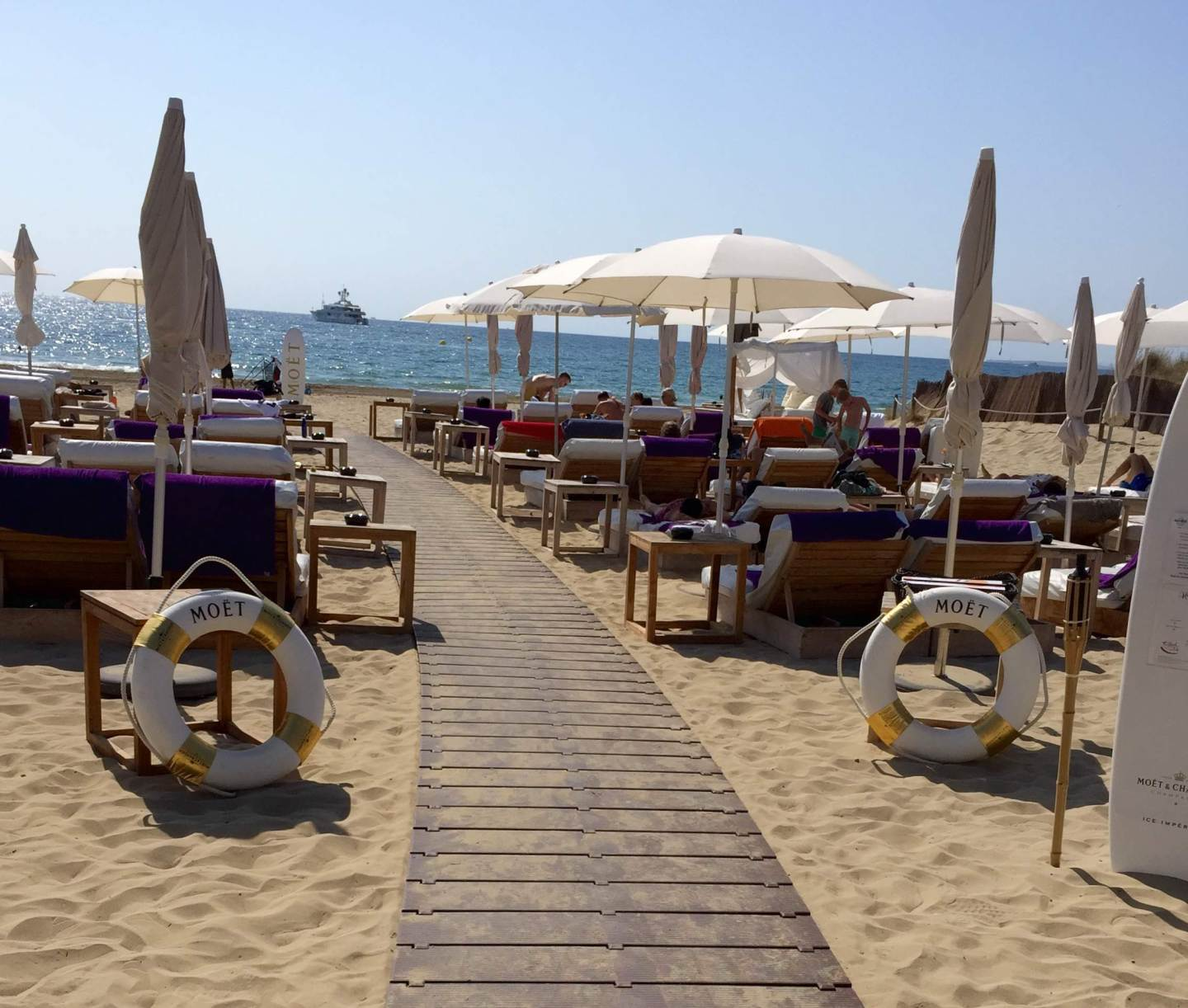 Moet and beach club area, Playa den Bossa