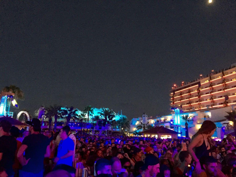 The crowd at Ushuaia, Ibiza