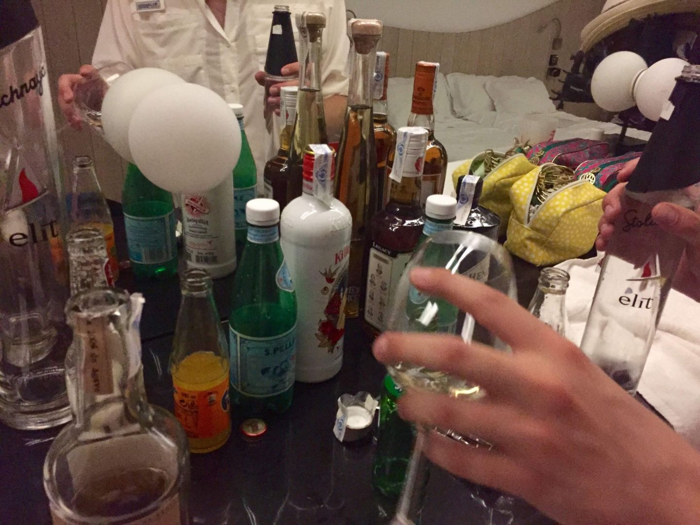 Minibar drinks in Ibiza