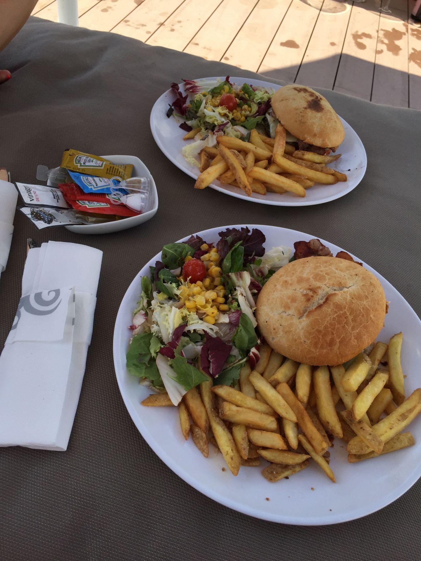 Poolside burgers in Ibiza