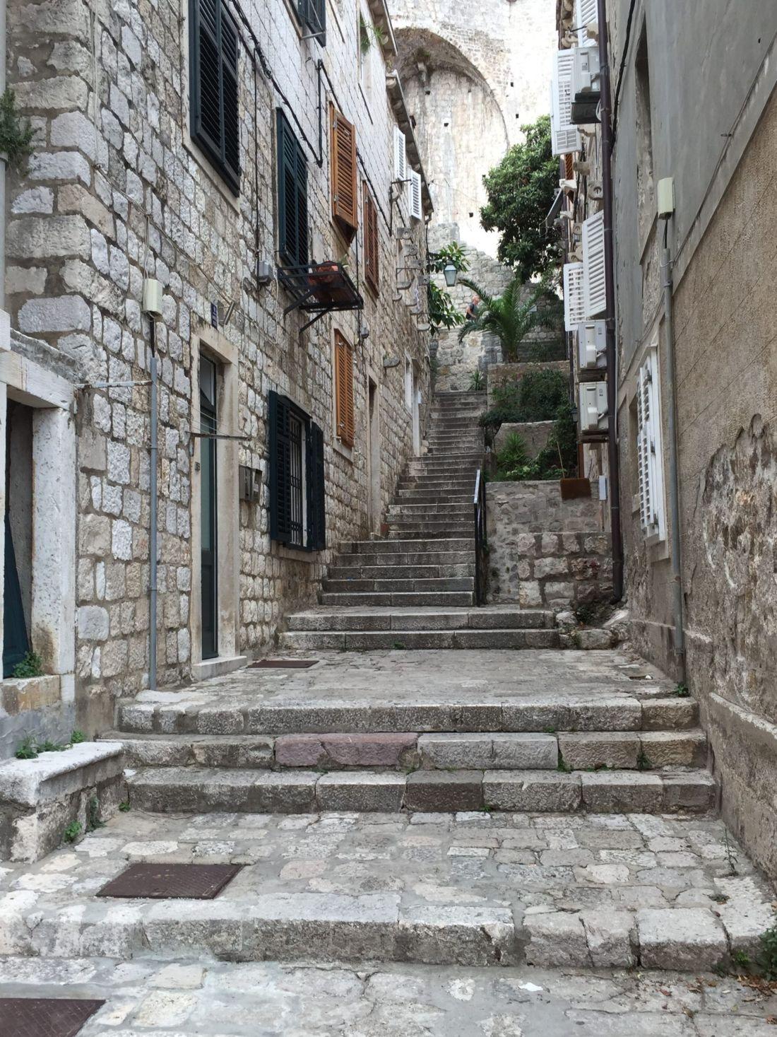Old stairs of Dubrovnik, Croatia