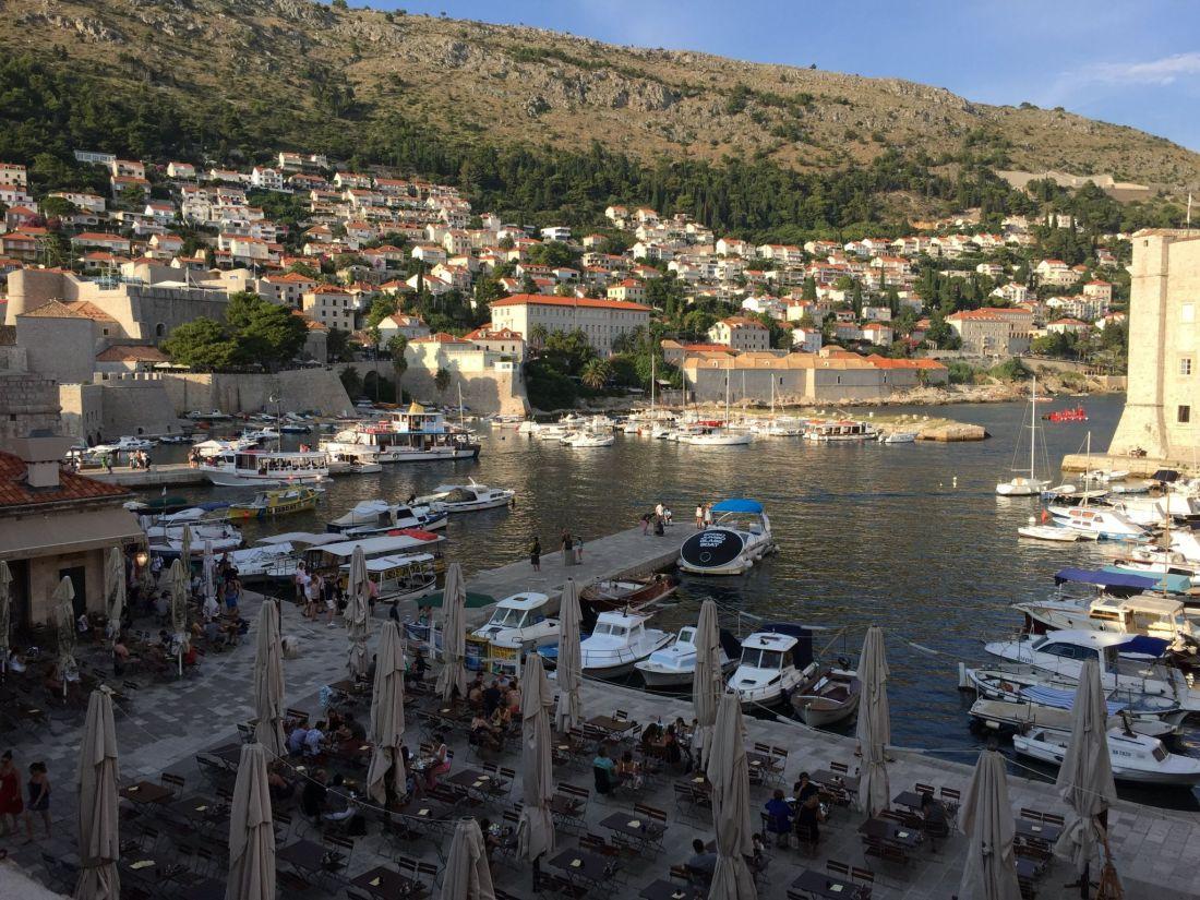 View over the Harbour and Lokanda Peskarija, Dubrovnik