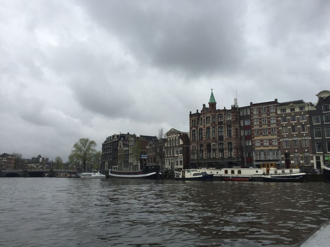 View of Amsterdam from the canal