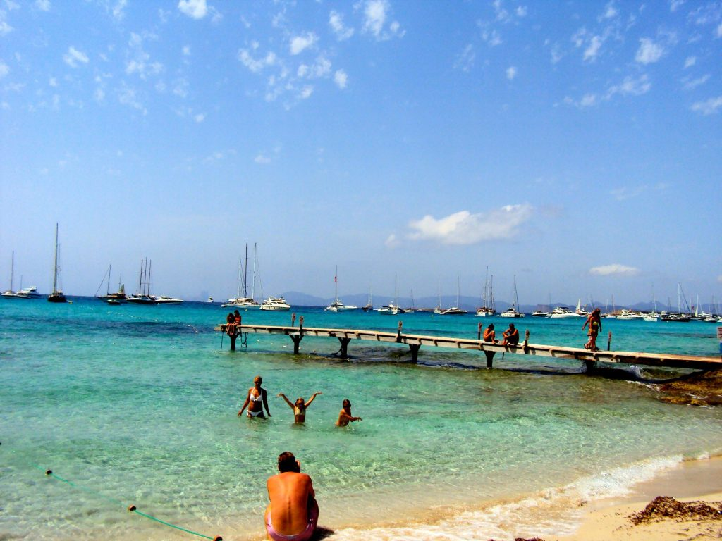 Beautiful beach on Formentera, Ibiza