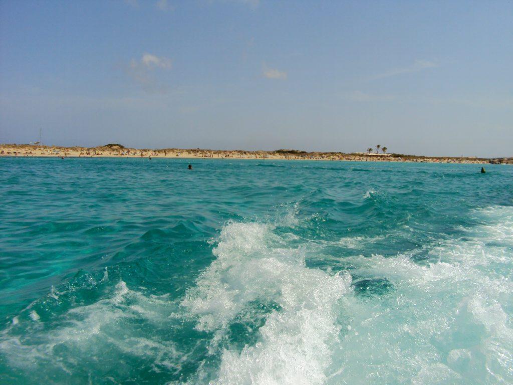 Sailing to Formentera near Ibiza