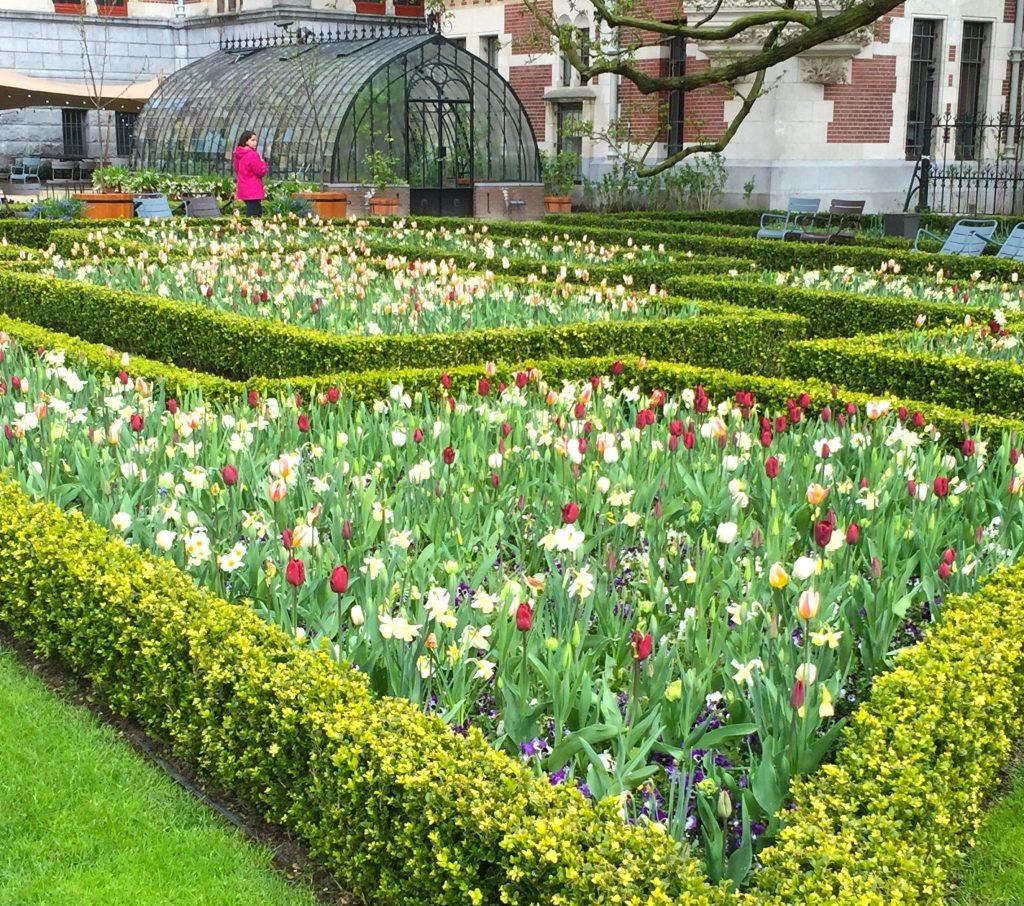 Tulip garden outside the Rijksmuseum, Amsterdam