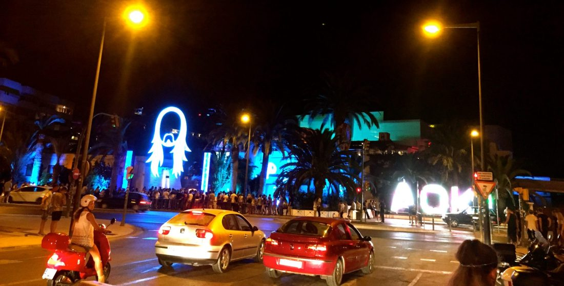 Arriving at Pacha, Ibiza to see Steve Aoki