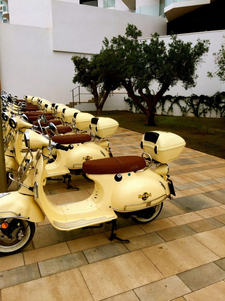 Scooters at the Hard Rock Hotel Ibiza