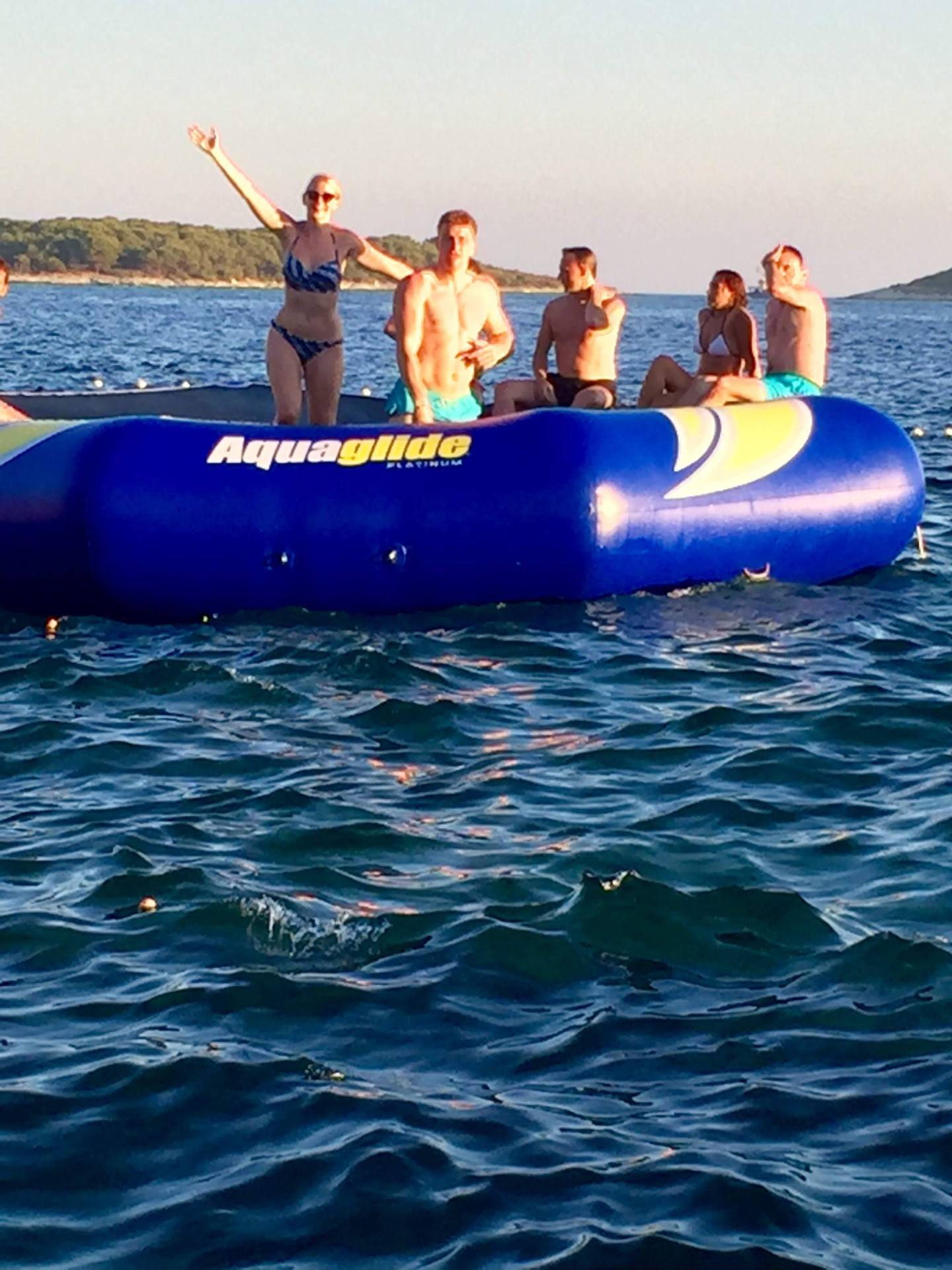 Inflatables at Hula Hula Beach Club, Hvar