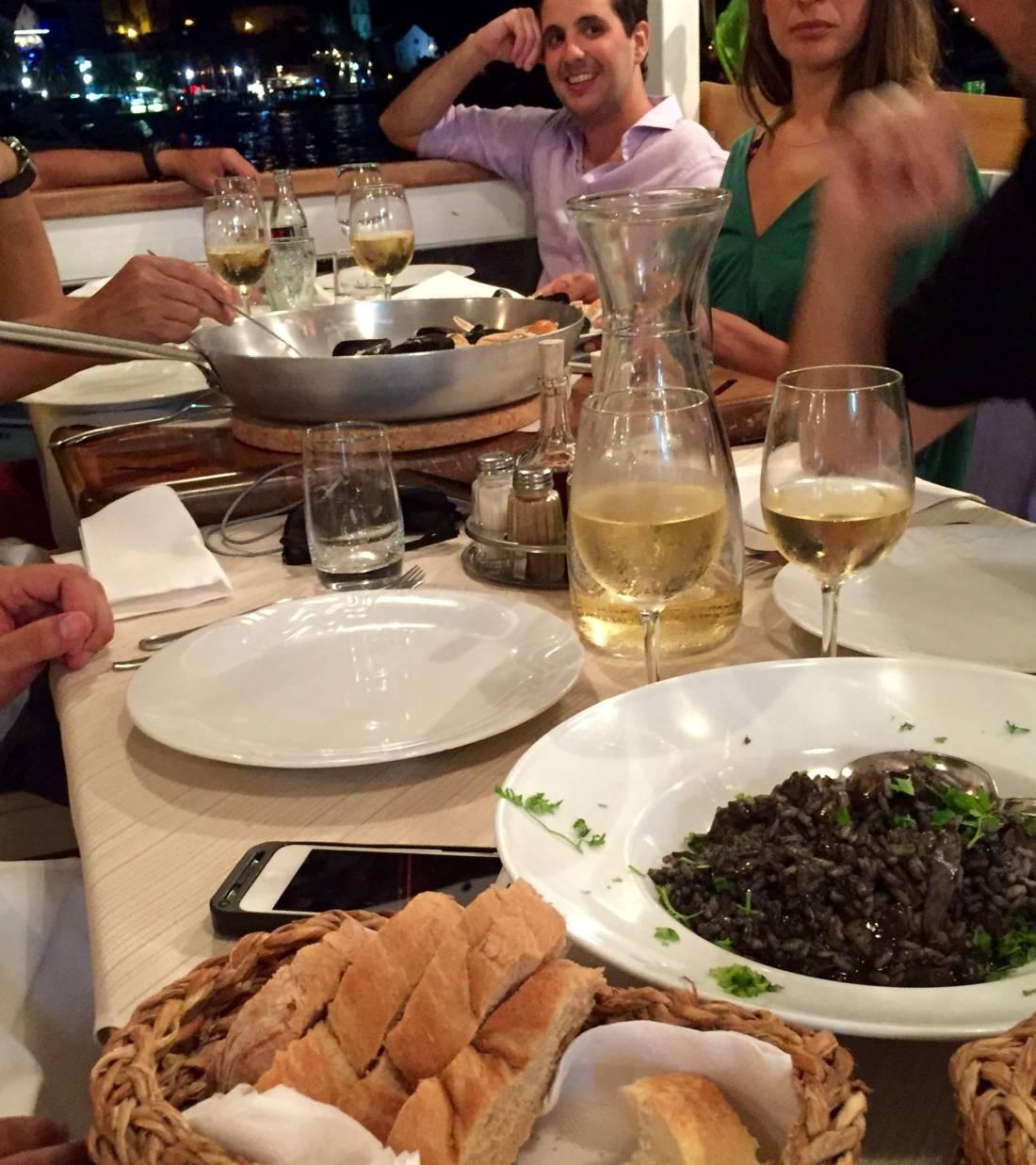 Seafood dinner on Hvar