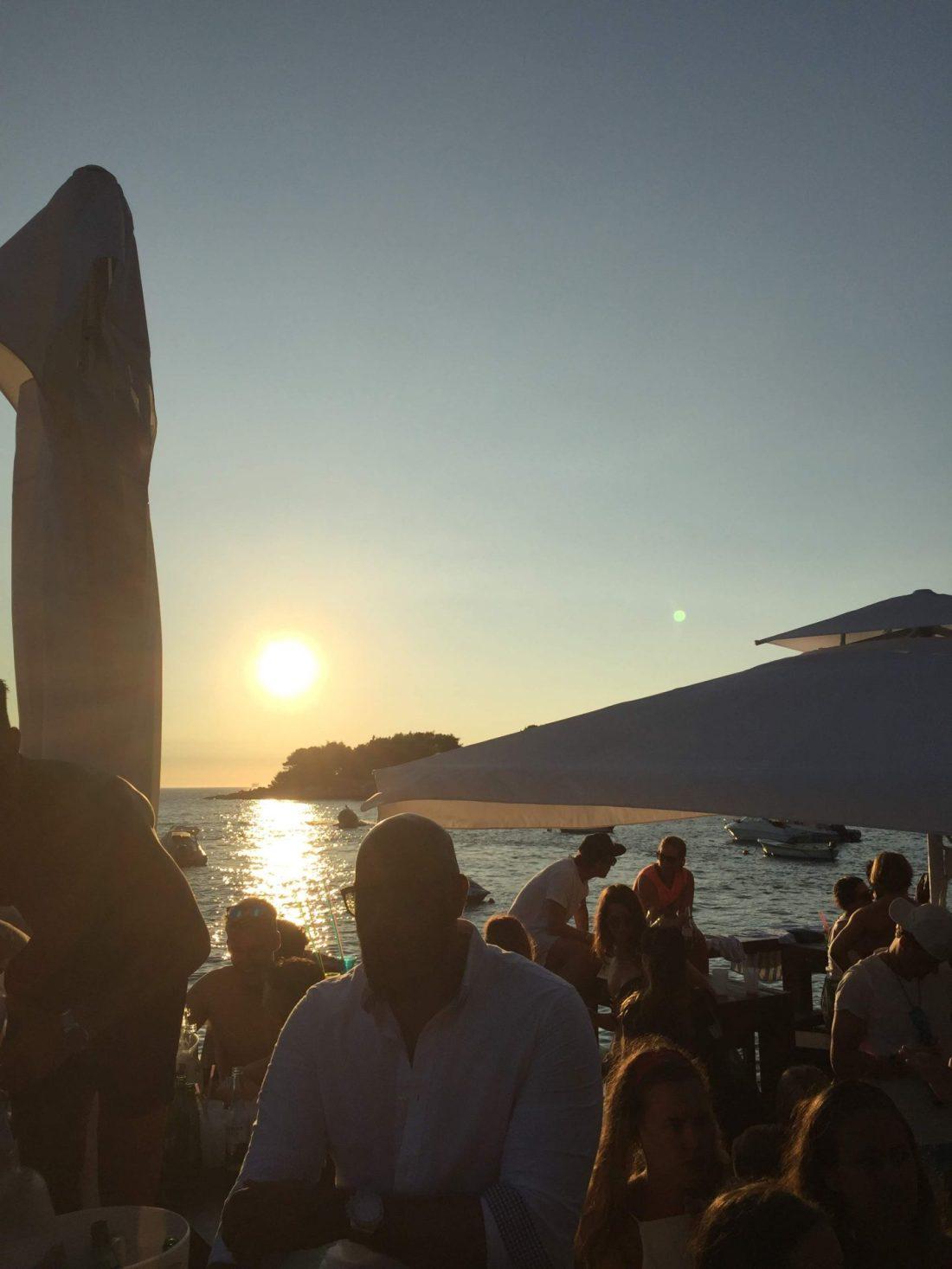 Sunset at Hula Hula Beach Club, Hvar