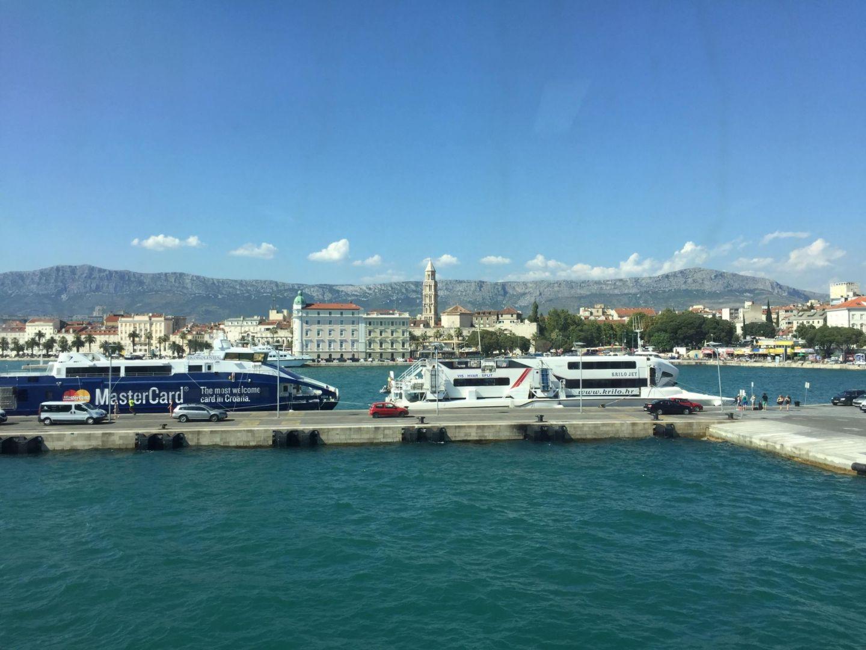 Arriving into Split harbour