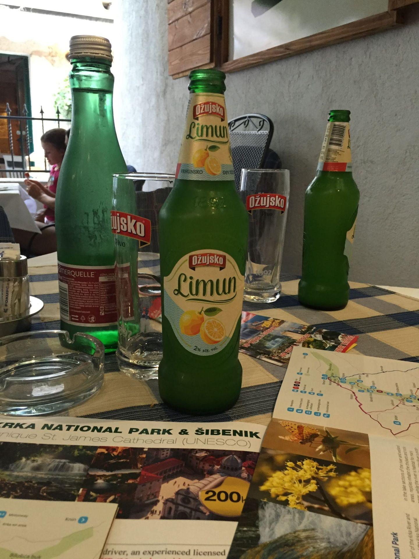 Lemon beers in Split, Croatia