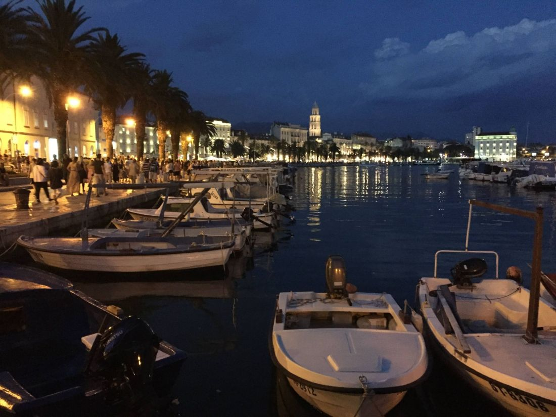 Split's Riva, Croatia