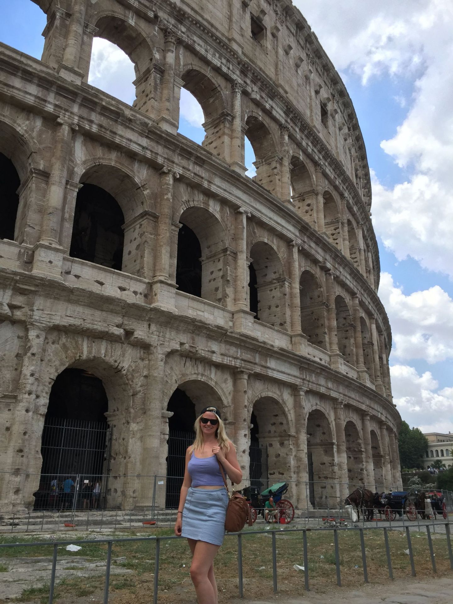 Laura and the Colosseum, Rome