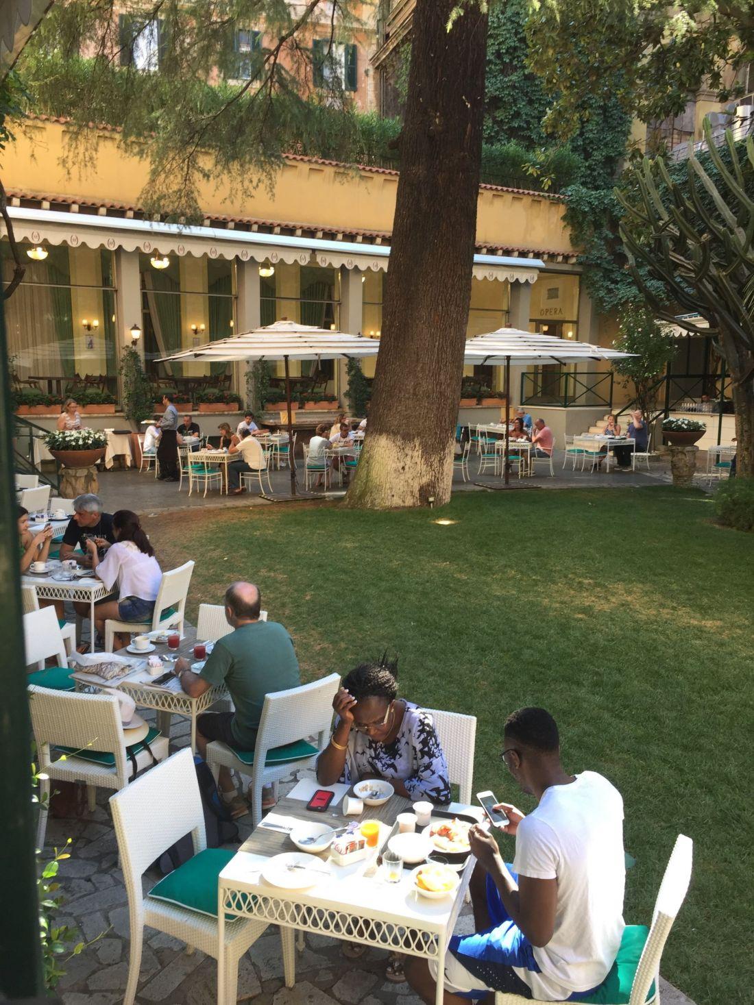 Breakfast at Hotel Quirinale, Rome