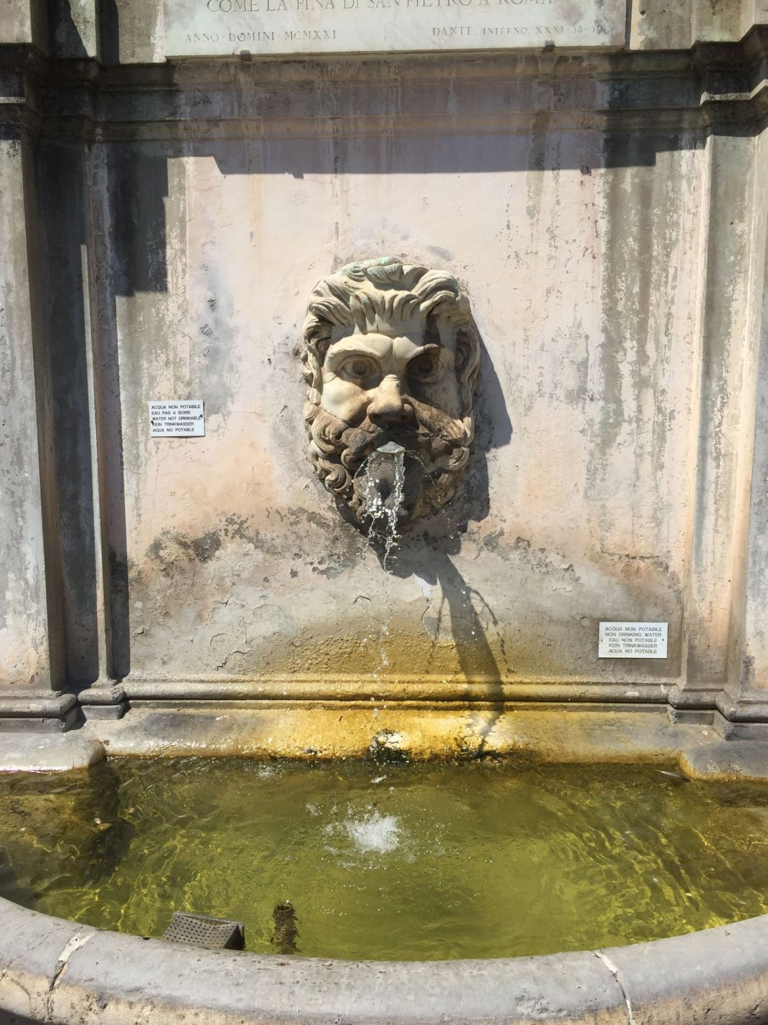 Fountains in the Vatican Museum, Rome