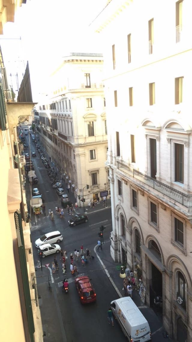 Balcony of our room at the Hotel Quirinale, Rome