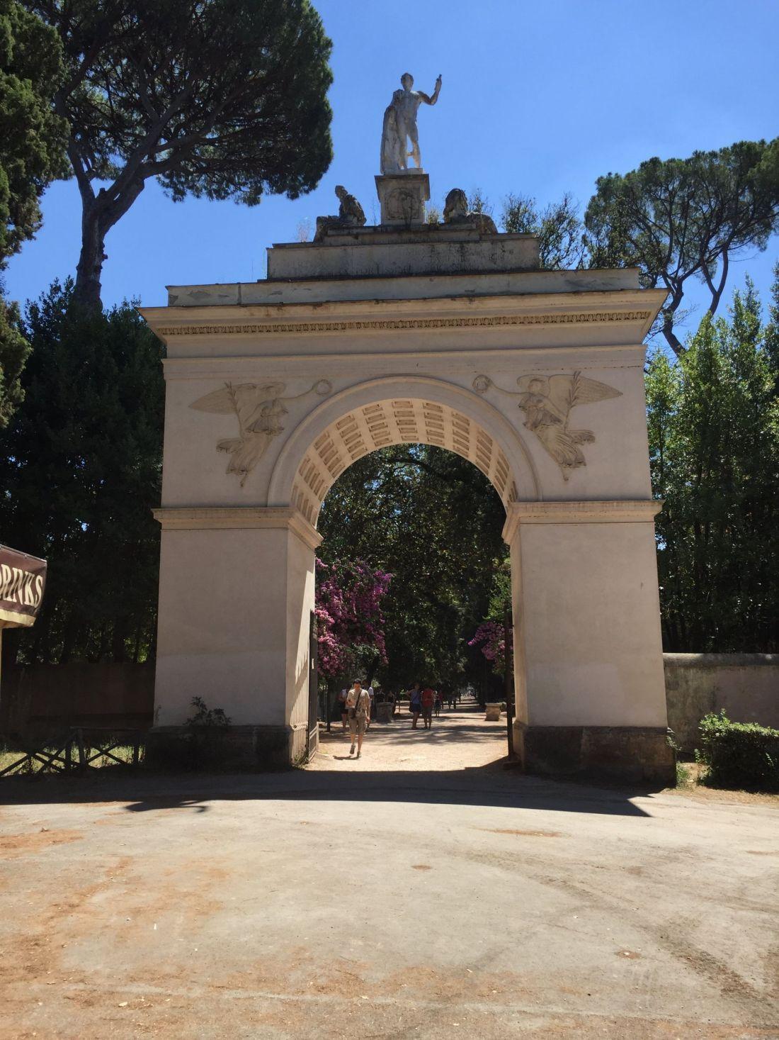 Entrance to Villa Borghese Gardens, Rome