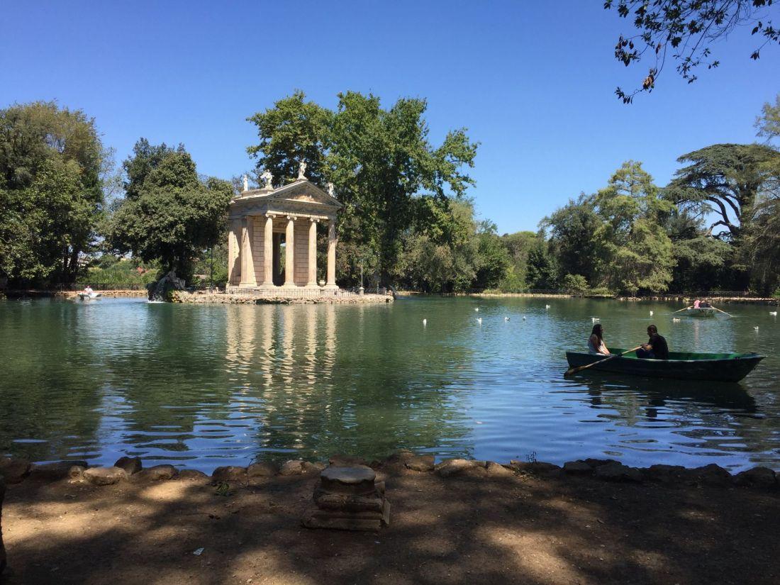 Boating lake in Villa Borghese Gardens, Rome