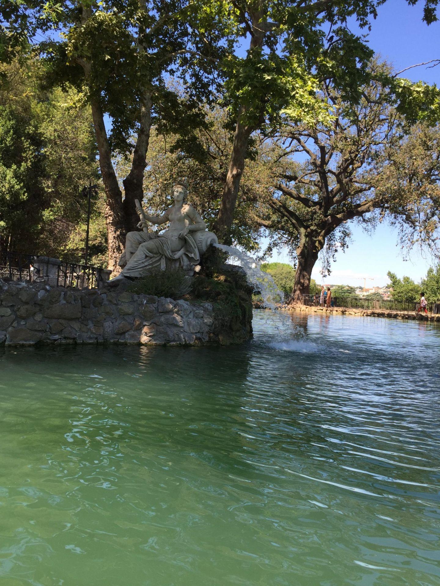Rowing on Villa Borghese Gardens lake