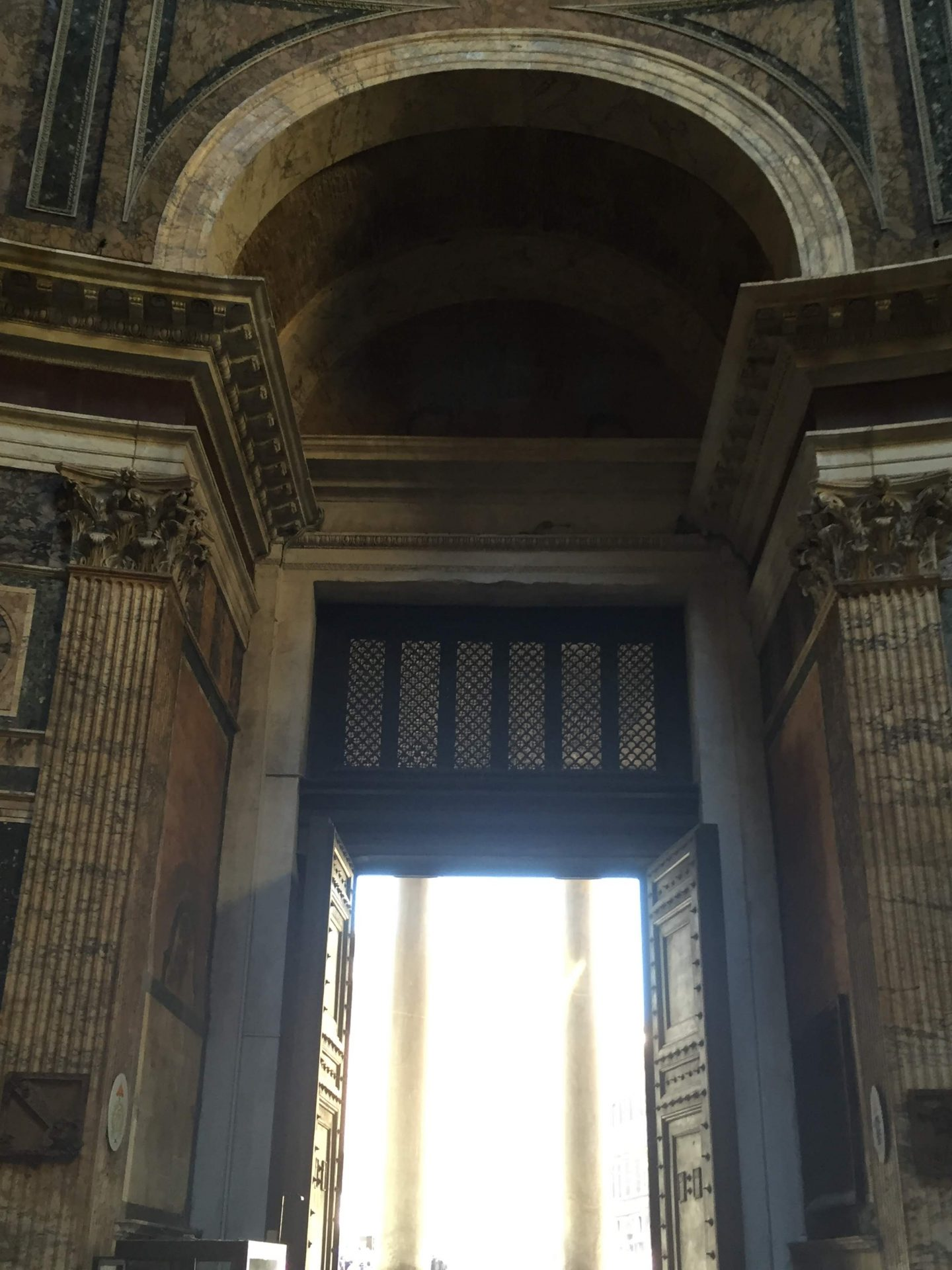 Inside the Pantheon, Rome near the Colosseum