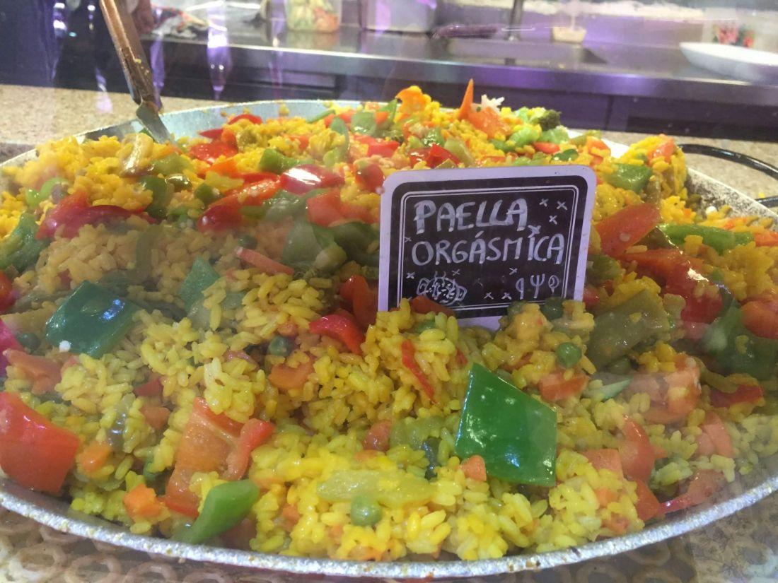 Paella in La Boqueria