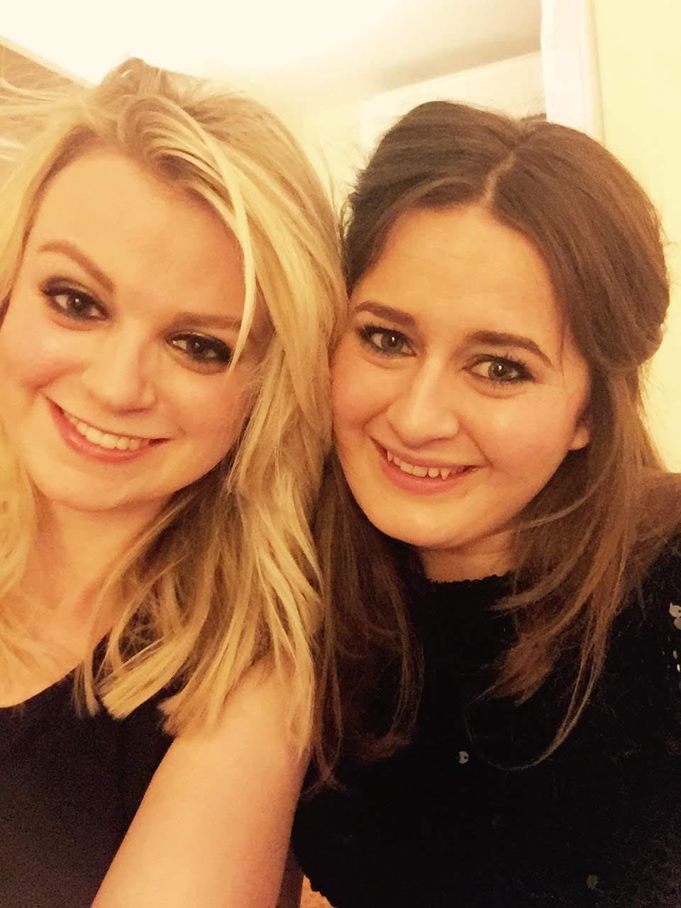 Girls on New Year's Eve in Cheltenham
