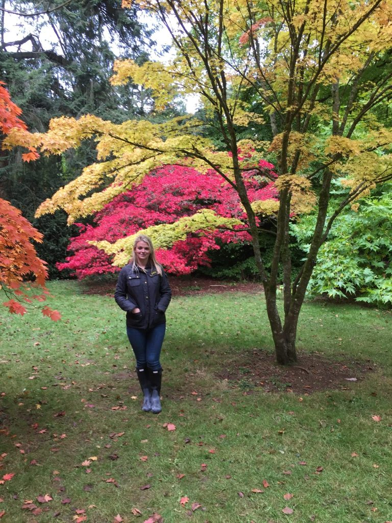 Laura with the autumn trees