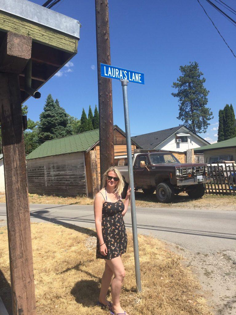 Laura on Laura Lane in Peachland