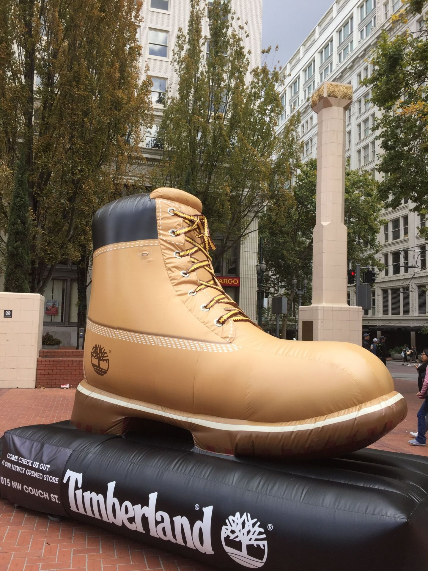 Giant Timberland shoe in the Pacific North West