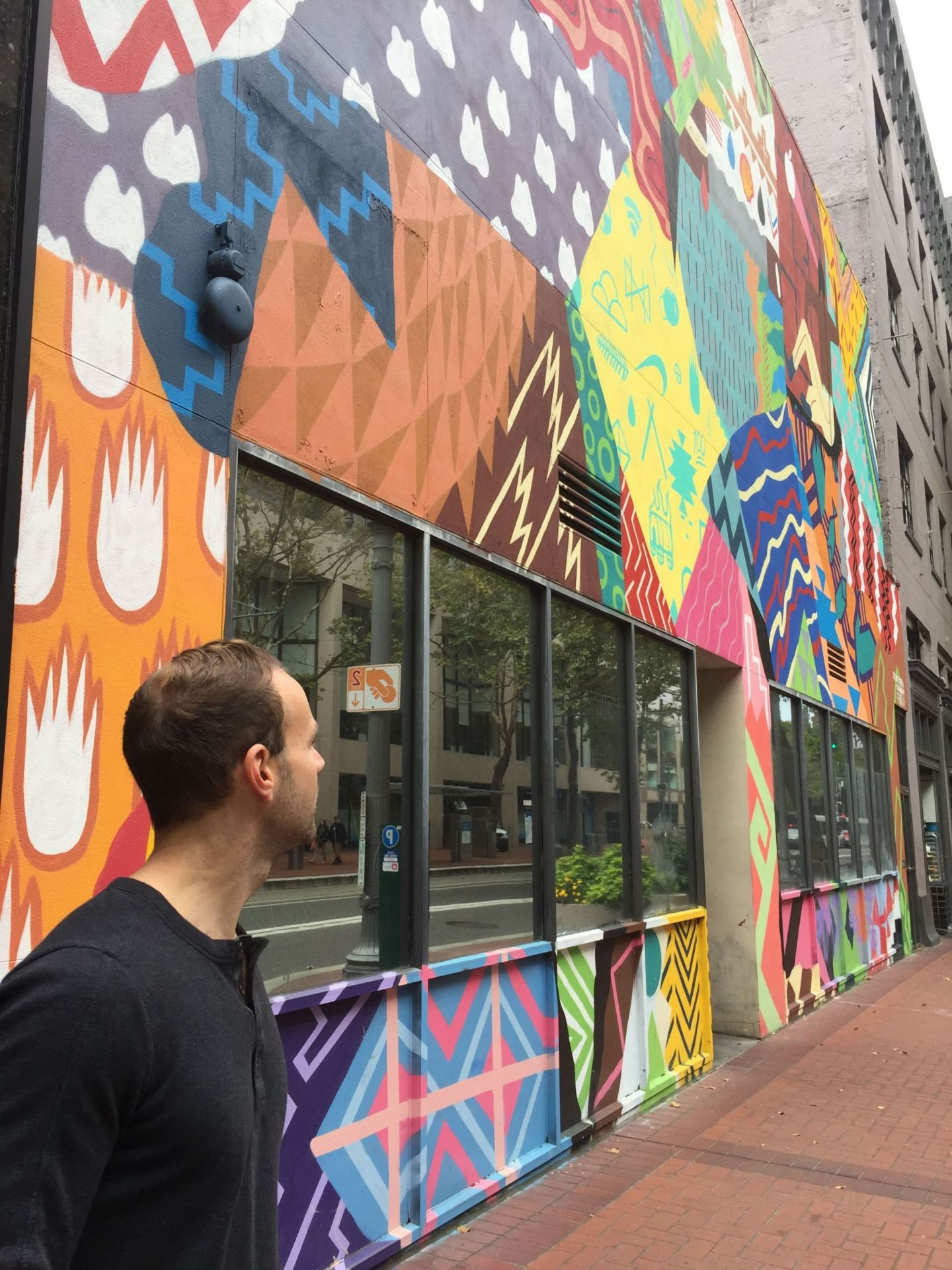 Colourful mural in Portland, Oregon