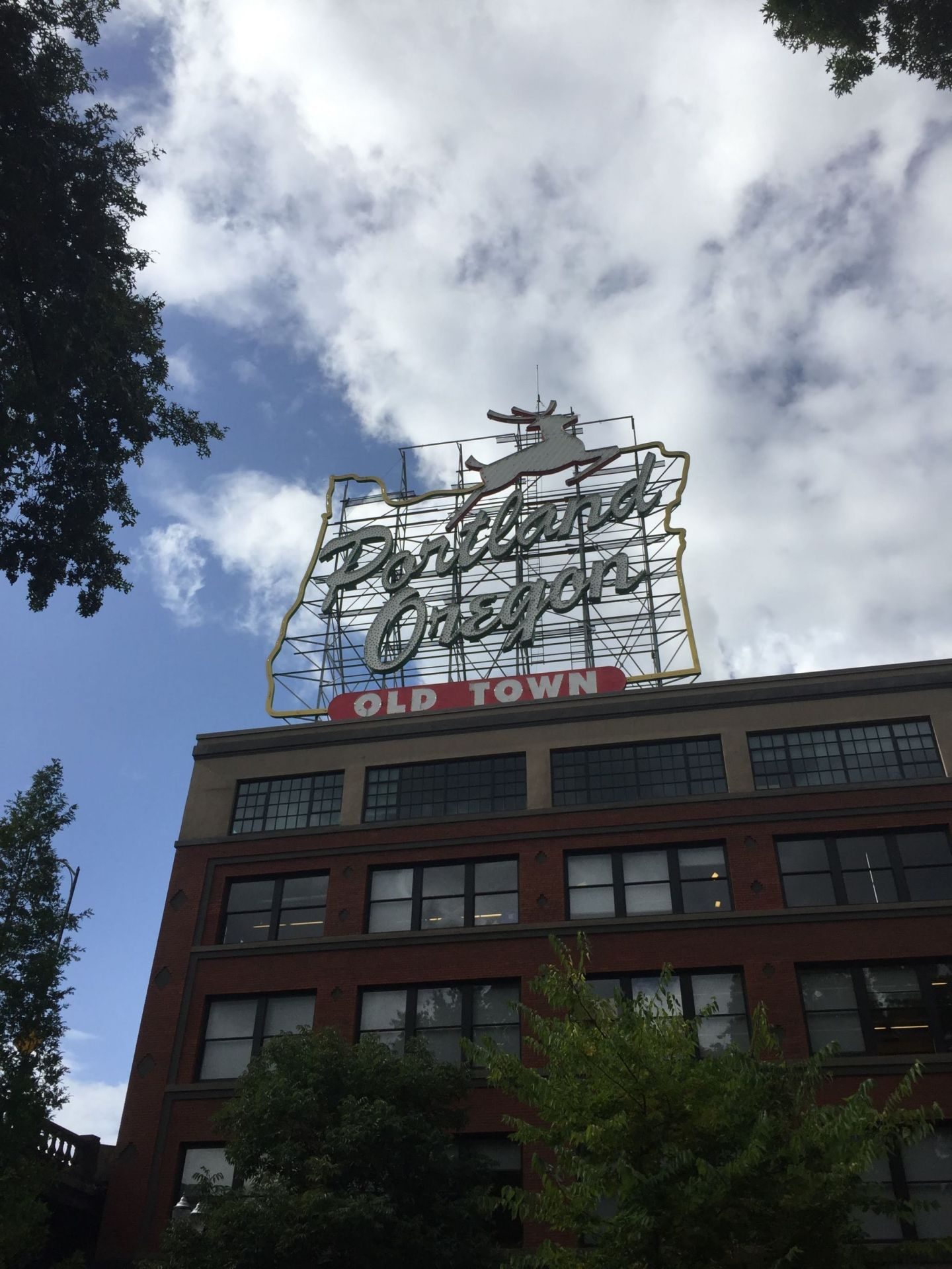 White Stag sign, Portland