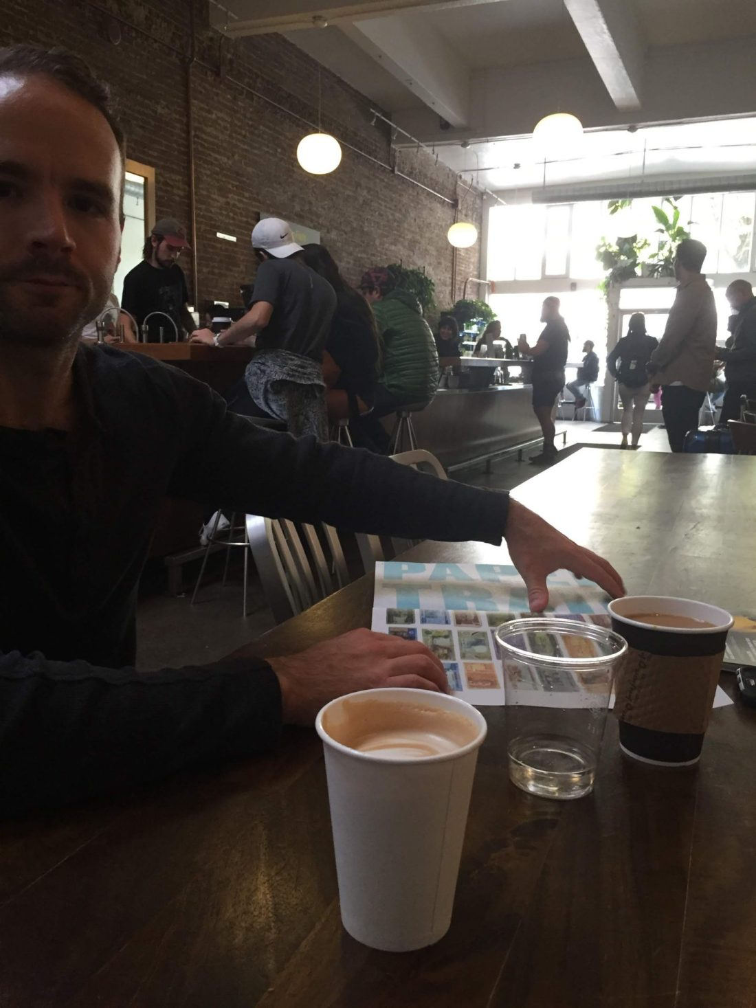 Grabbing coffee from Stumptown Coffee Roasters