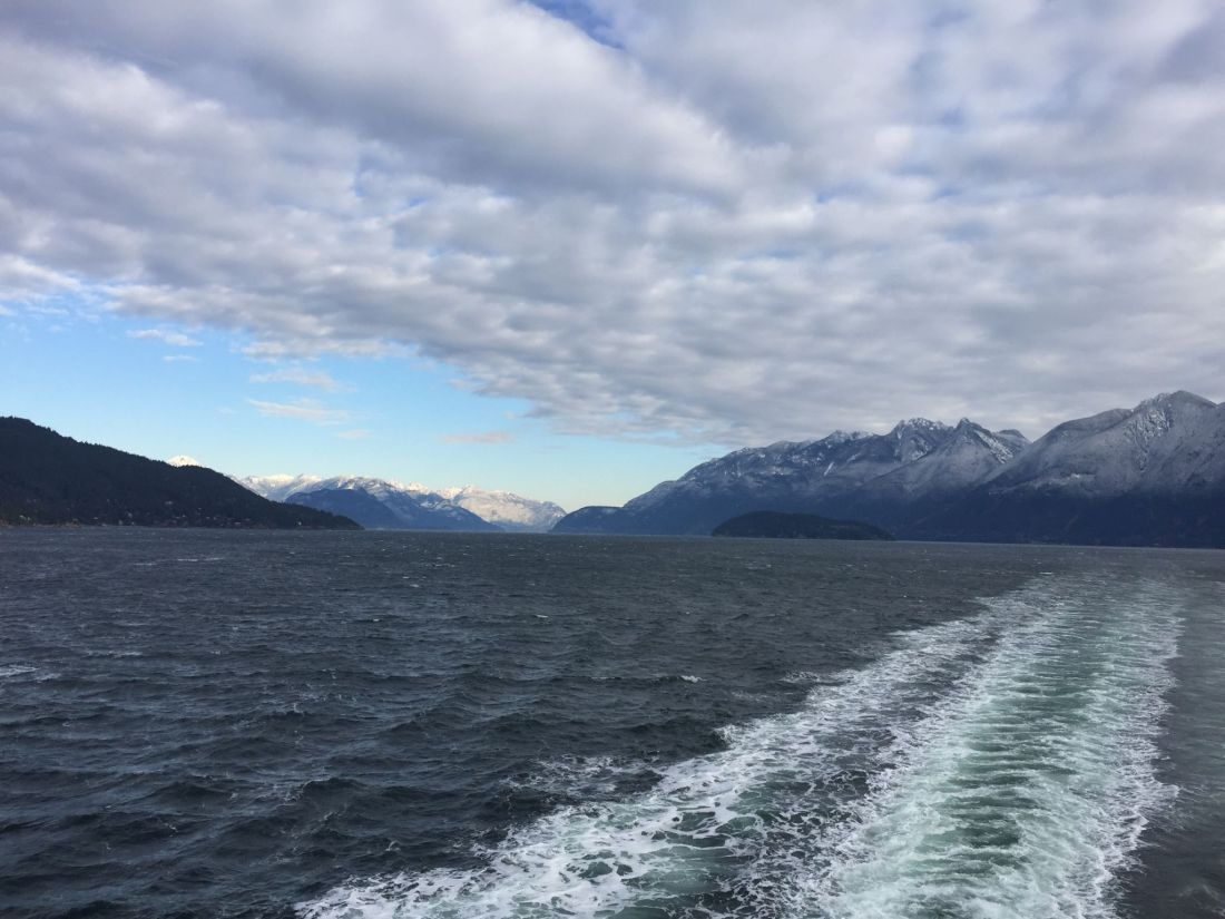 The ferry from Vancouver to Nanaimo