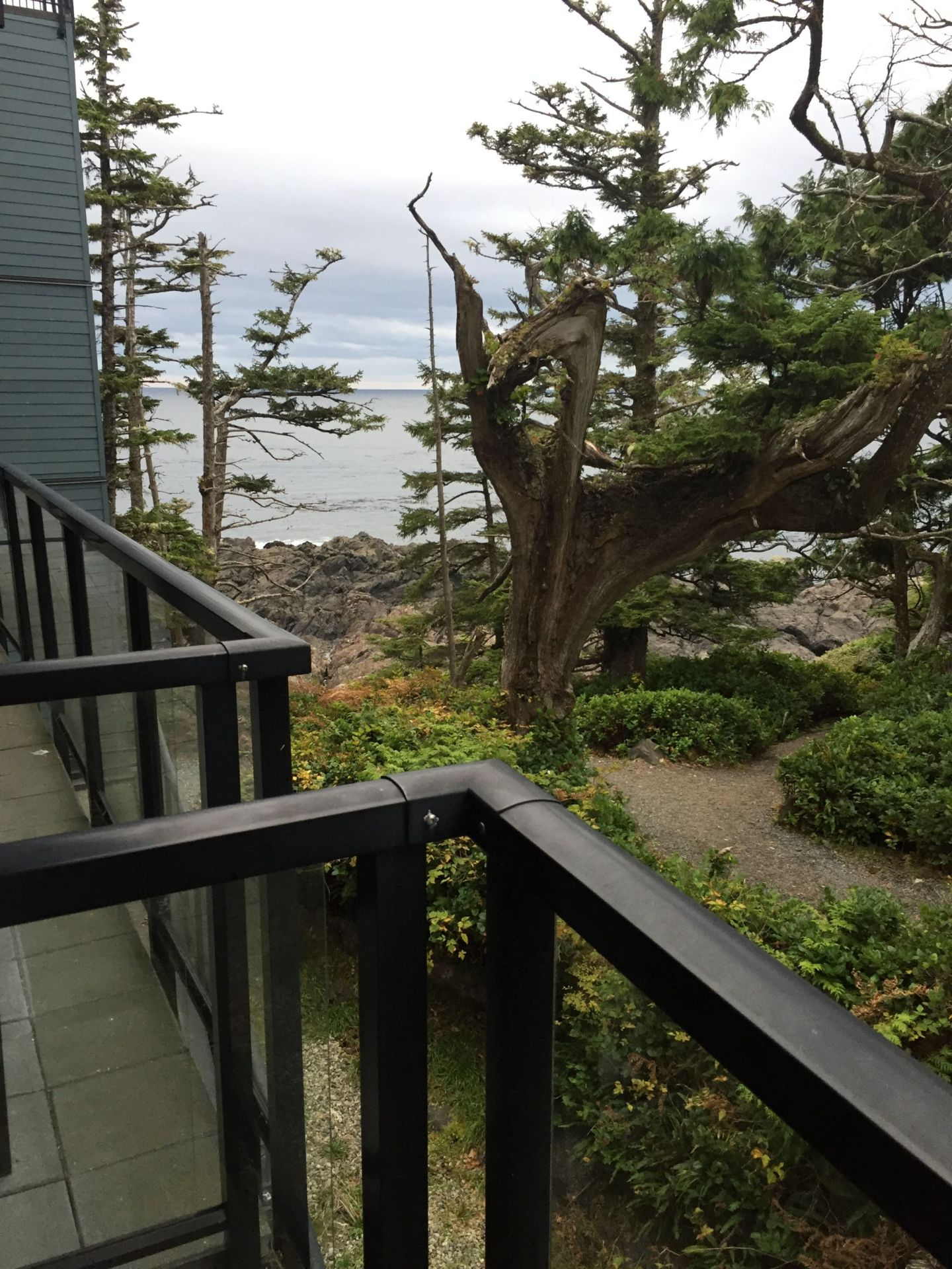 Balcony at Black Rock Oceanfront Resort in Ucluelet, Vancouver Island