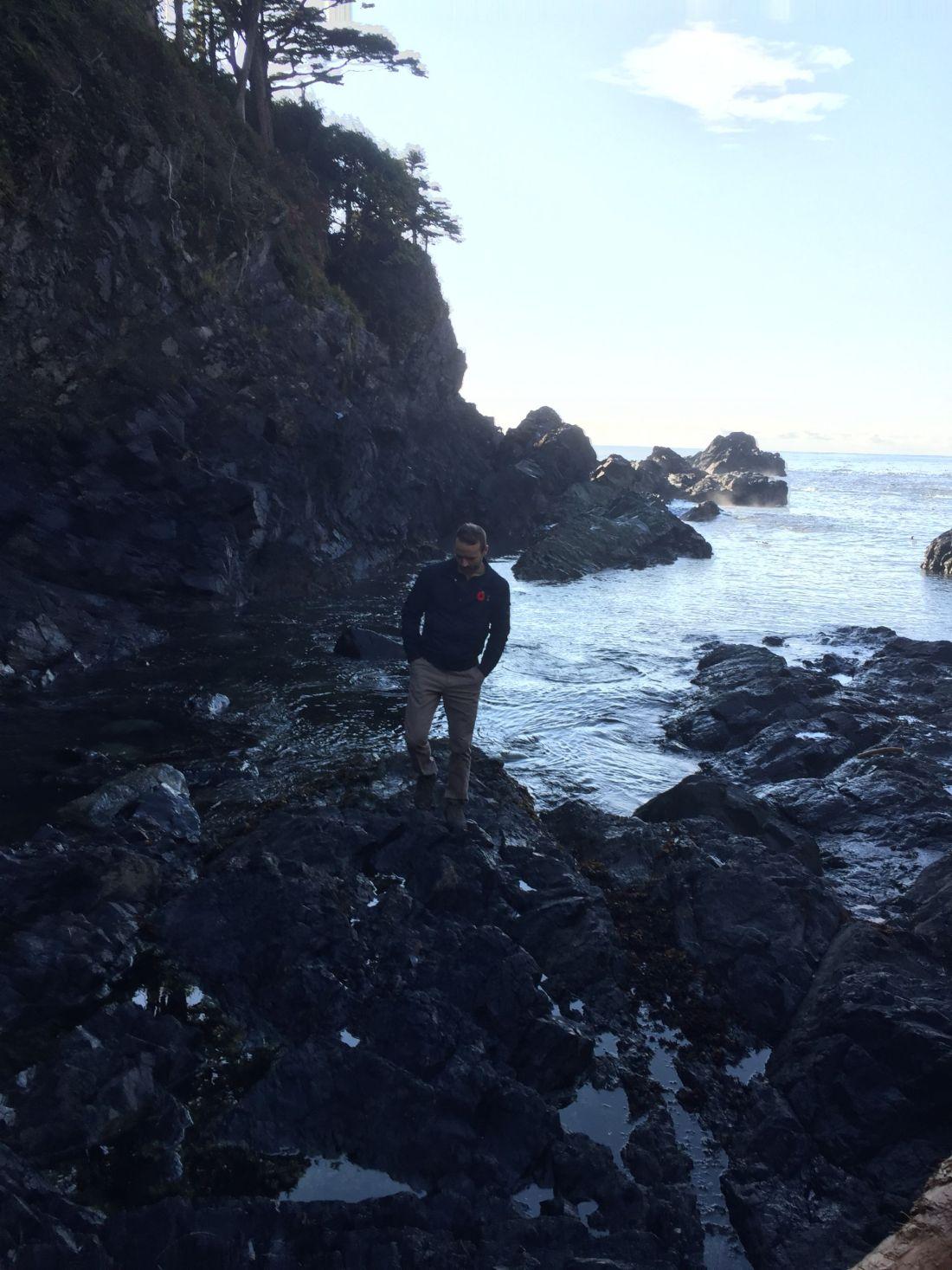 On the beach near Black Rock Resort, Ucluelet