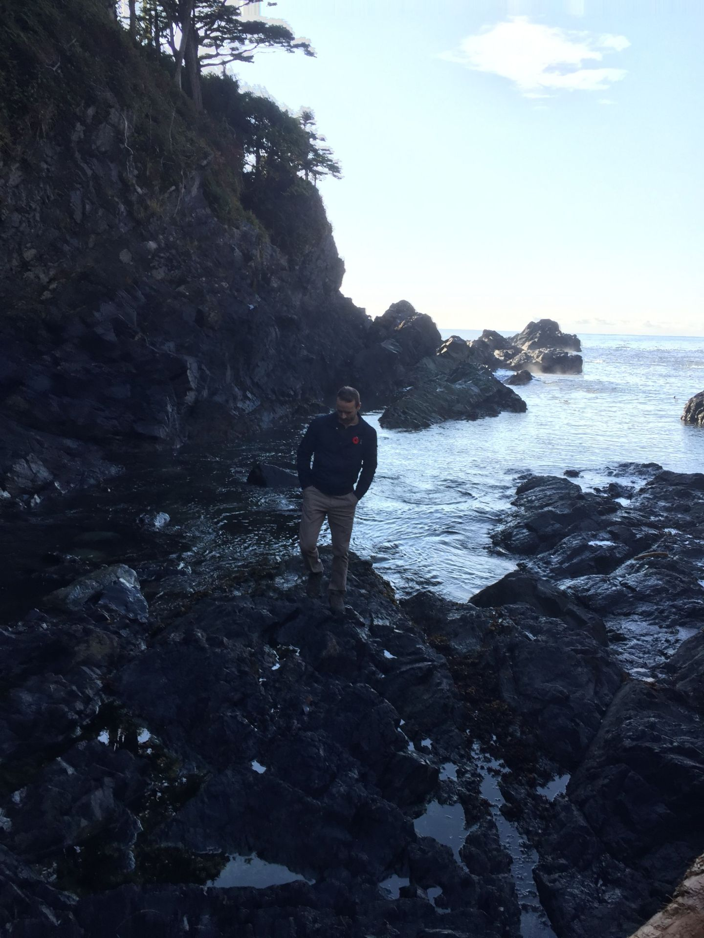 On the beach near Black Rock Resort, Ucluelet