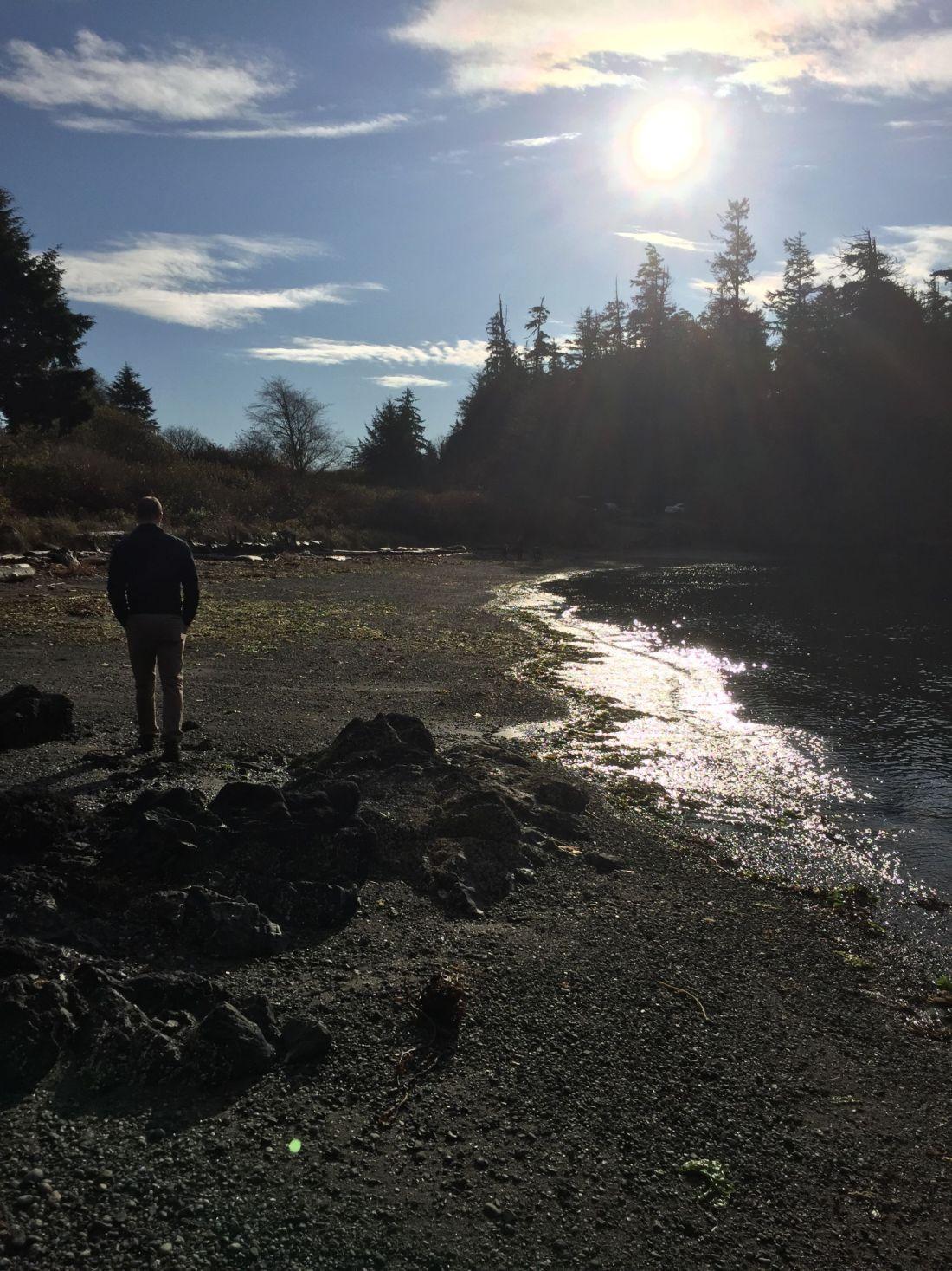 On a beach near Ucluelet, Vancouver Island