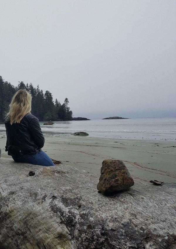 Laura on Half Moon Bay, Pacific Rim National Park