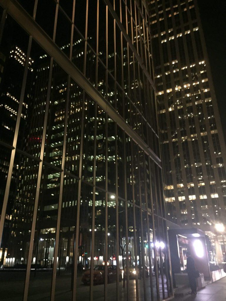 Toronto skyscrapers at night