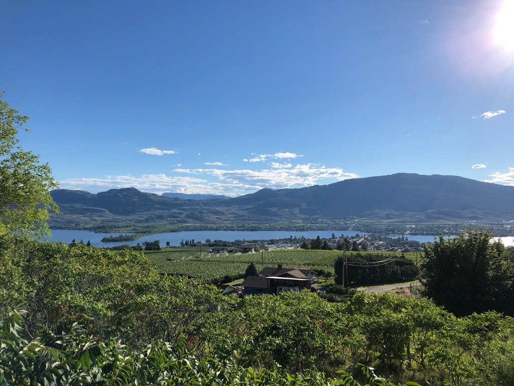 The sun shines across Osoyoos, Okanagan Valley