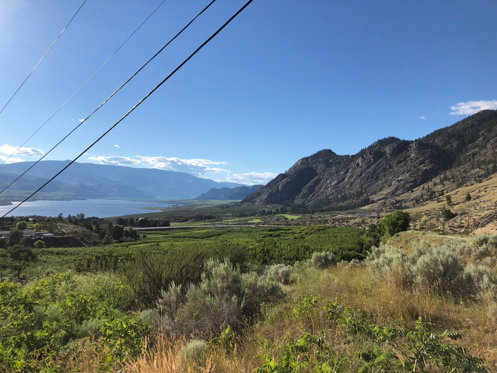 A view across Osoyoos, British Columbia