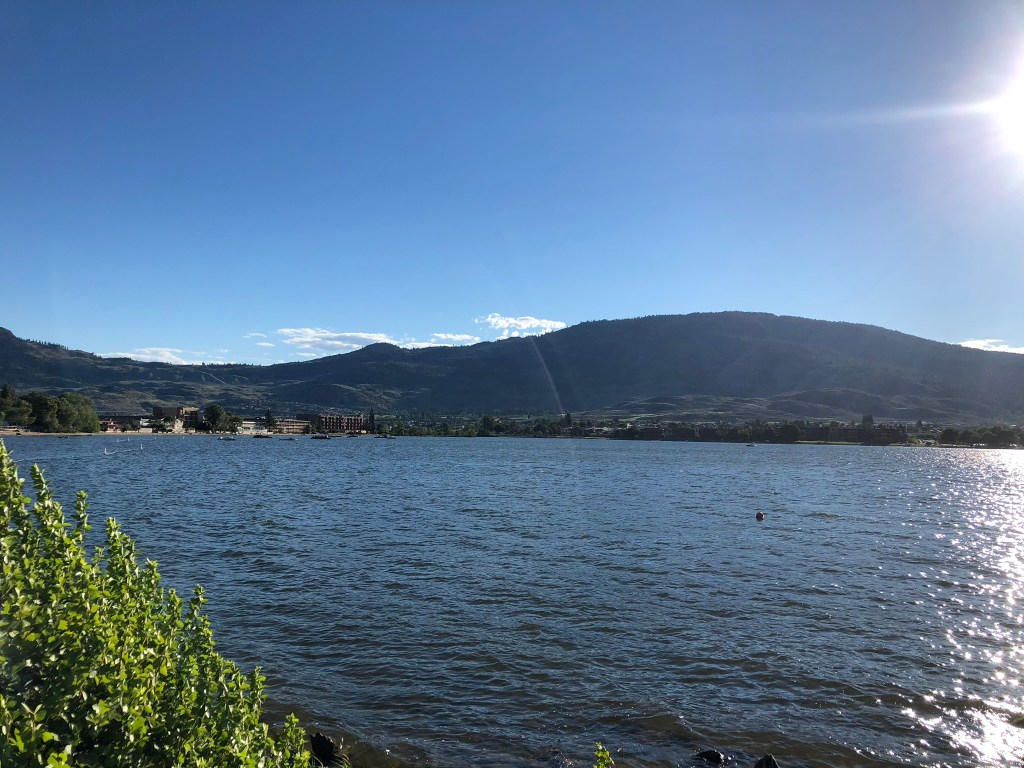 Looking over Lake Osoyoos, Okanagan Valley