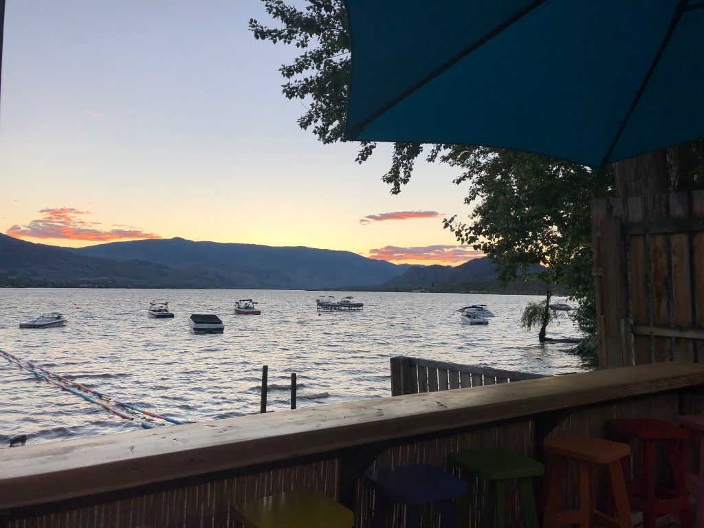 A beautiful sunset over Lake Osoyoos, Okanagan Valley