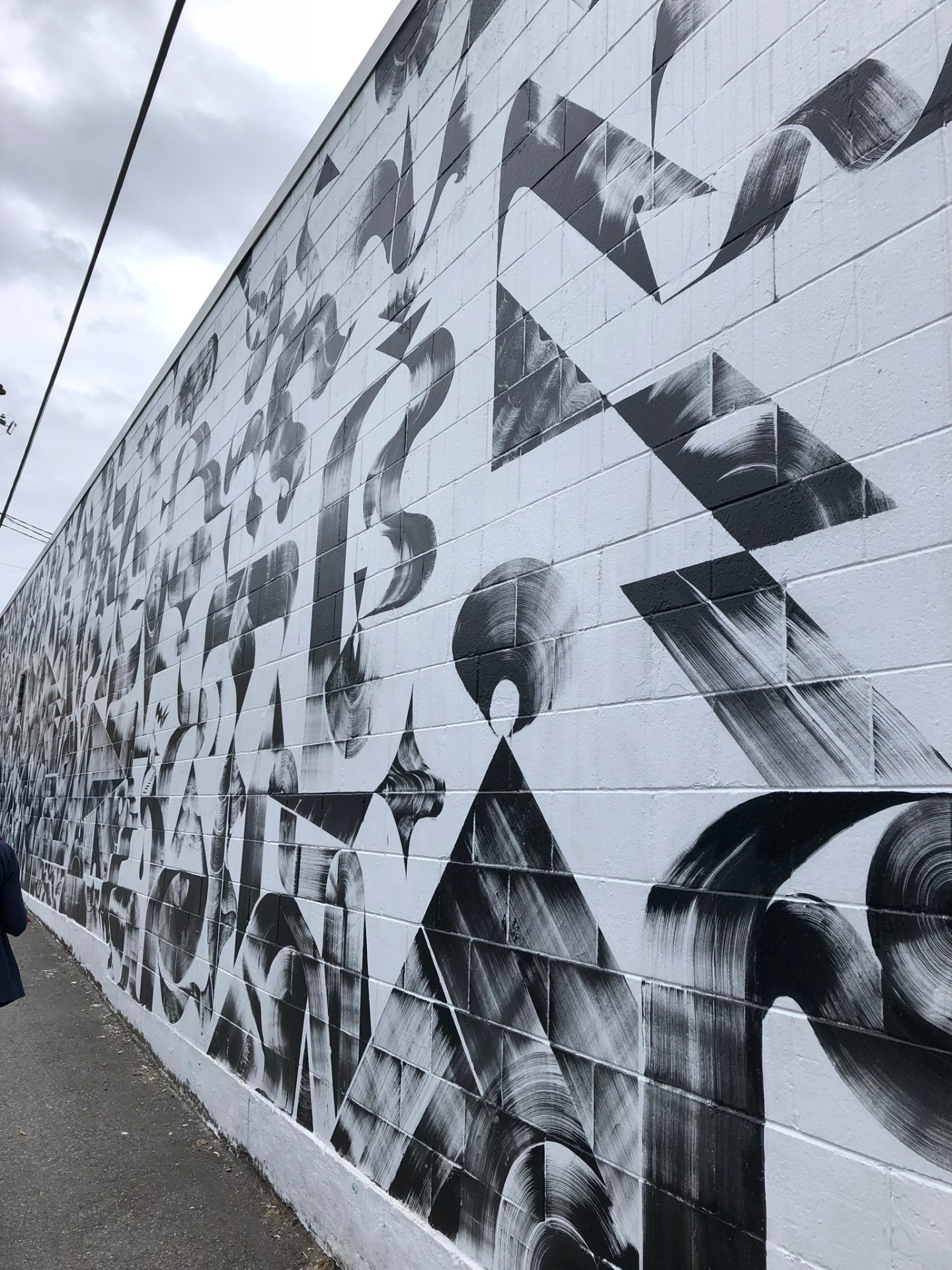 Black and white mural in Vancouver